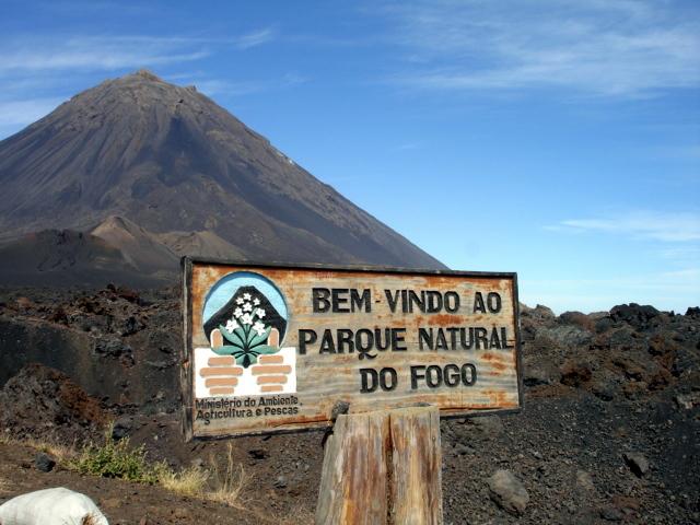 Cap vert ile de fogo volcan